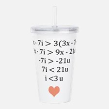 Equation of Love Acrylic Double-wall Tumbler