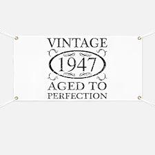 Vintage 1947 Banner