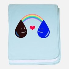 Opposites Attract - Oil & Water m baby blanket