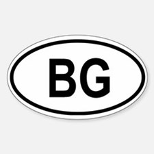 Bulgaria Oval Decal