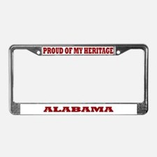 Proud of My Alabama Heritage License Plate Frame