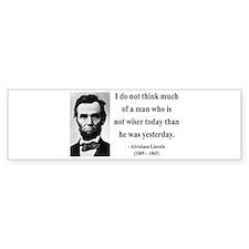 Abraham Lincoln 33 Bumper Bumper Sticker
