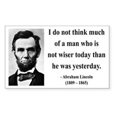 Abraham Lincoln 33 Rectangle Decal