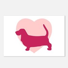Basset Hound Valentine's Day Postcards (Package of