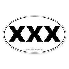 XXX Car Oval Decal