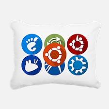 Unique Ubuntu Rectangular Canvas Pillow