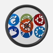 ubuntu distros Large Wall Clock