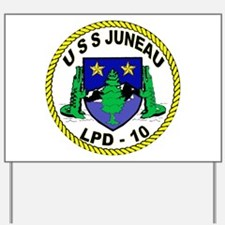 USS Juneau LPD 10 Yard Sign