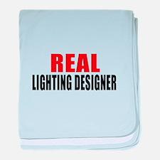 Real Lighting designer baby blanket