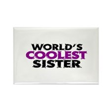 World's Coolest Sister Rectangle Magnet