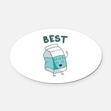 Best Friends Oval Car Magnet