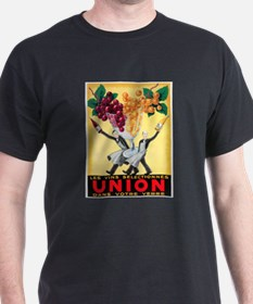 Vintage French Wine Poster (Front) T-Shirt