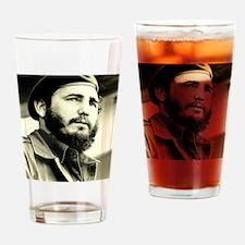 Funny Fidel Drinking Glass