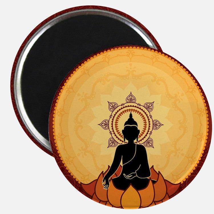 Serene Buddha Artwork Magnets