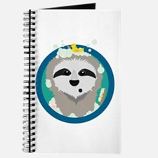 Bathing Sloth with bubbles Journal