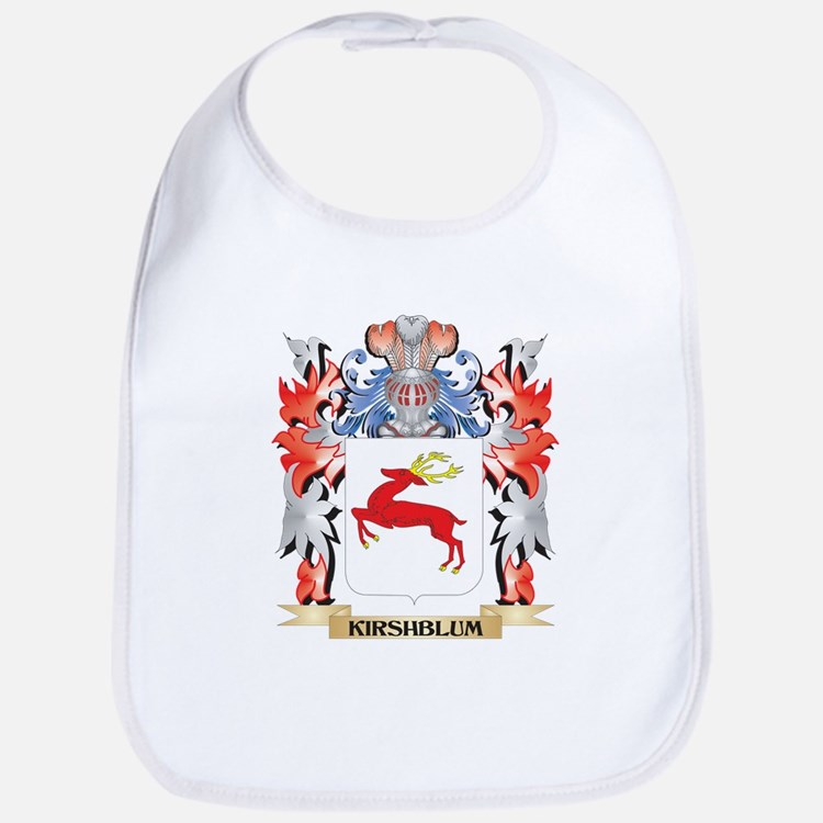 Kirshblum Coat of Arms - Family Crest Baby Bib
