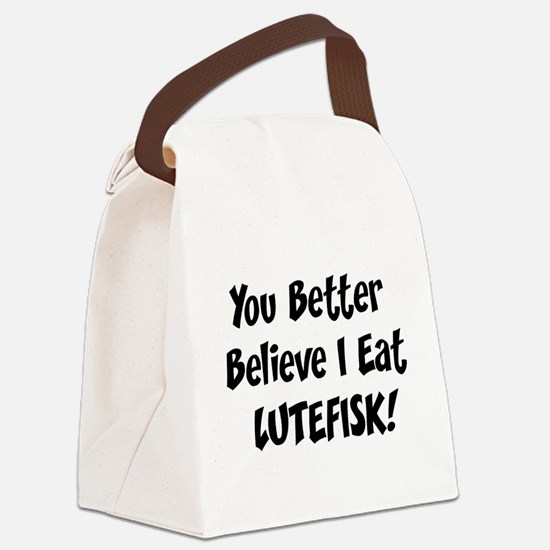 Eat Lutefisk Canvas Lunch Bag