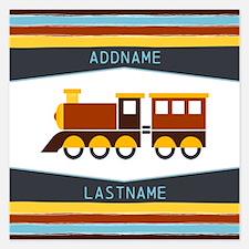 Kids Name Toy Train Persona Invitations