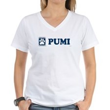 PUMI Womens V-Neck T-Shirt