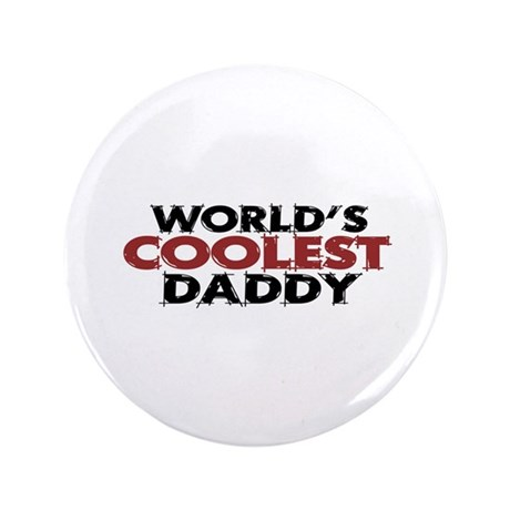 """World's Coolest Daddy 3.5"""" Button (100 pack)"""
