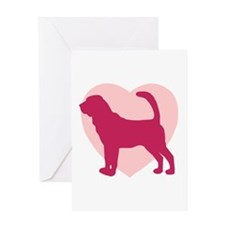 Bloodhound Valentine's Day Greeting Card