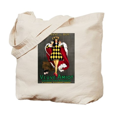 Vintage French Wine Poster Tote Bag