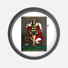 Vintage French Wine Poster Wall Clock