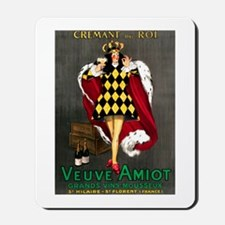 Vintage French Wine Poster Mousepad