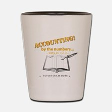 Accounting - By the Numbers Shot Glass
