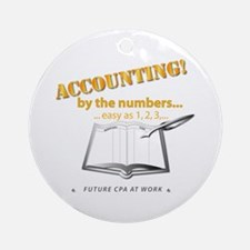 Accounting - By the Numbers Round Ornament