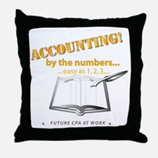 Accounting - By the Numbers Throw Pillow