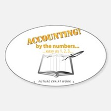 Accounting - By the Numbers Sticker (Oval)