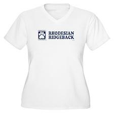 RHODESIAN RIDGEBACK Womes Plus-Size V-Neck T-Shirt