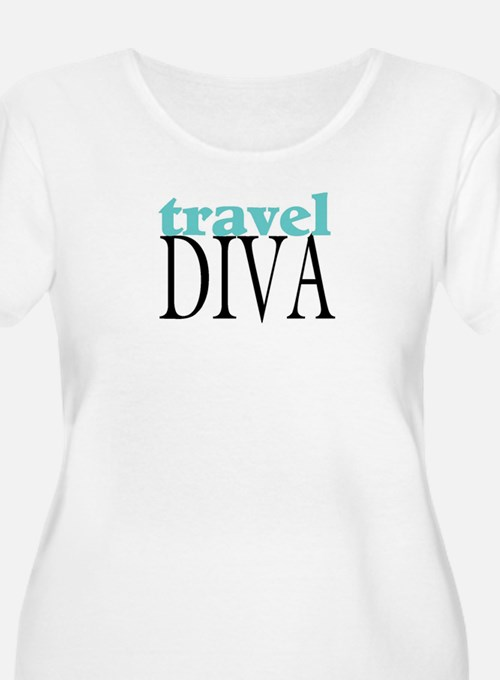 travel diva.jpg Plus Size T-Shirt
