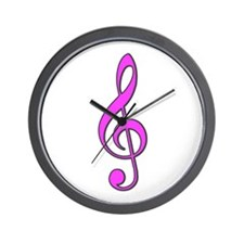 Pink Musical Love Wall Clock