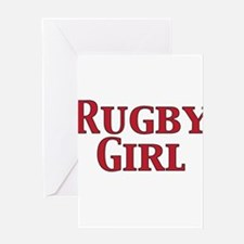 Rugby Girl Greeting Cards