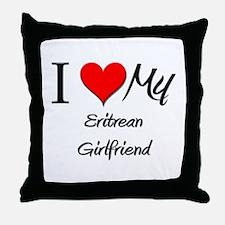 I Love My Eritrean Girlfriend Throw Pillow