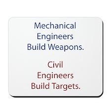 Mechanical Engineers and Civil Engineers Mousepad