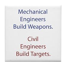 Mechanical Engineers and Civil Engineers Tile Coas