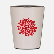 Funny Red flower Shot Glass