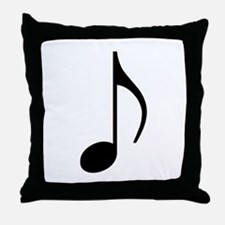 Traditional Basic Black Note Throw Pillow