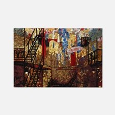 Venice Abstract Rectangle Magnet