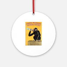 Monkey Liquor Poster Ornament (Round)
