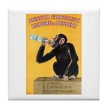 Monkey Liquor Poster Tile Coaster