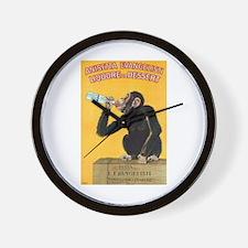 Monkey Liquor Poster Wall Clock