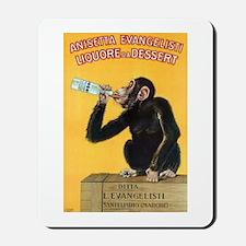 Monkey Liquor Poster Mousepad