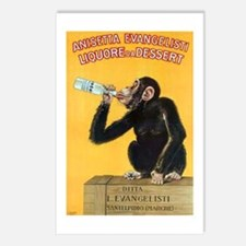 Monkey Liquor Poster Postcards (Package of 8)