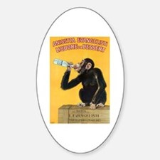 Monkey Liquor Poster Oval Decal