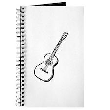 Antique Woodcut Guitar Journal