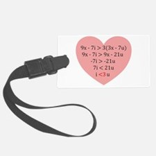 Equation of Love Luggage Tag